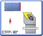 90� CTFPR\L Toolholders for TPMR Inserts