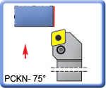 75� PCKNR\L Toolholders for CNMG Inserts