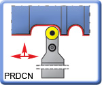 PRDCN Toolholders for RCMT Inserts