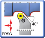 PRSCR\L Toolholders for RCMT Inserts