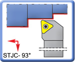 93� STJCR\L Toolholders for TCMT Inserts
