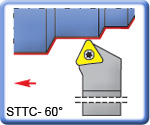 60� STTCR\L Toolholders for TCMT Inserts
