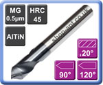 Spot Drills AlTiN Coated Carbide 90° & 120° Point