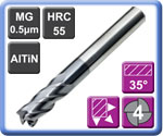 High Performance Carbide End Mills 4 Flute 55HRC