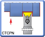 CTCPN Toolholders for TPMR Inserts