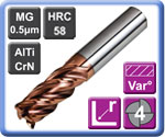 4 Flute Variable Helix Corner Radius Carbide End Mills