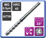 Carbide End Mills Long & Extra Long Series 4 Flute AlTiN Coated 45HRC