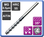 High Performance Carbide End Mills 4 Flute Long Series 55HRC