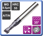 High Performance Carbide End Mills 2 Flute 55HRC