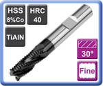 HSS Rippers Fine Pitch 8% Cobalt TiAlN Coated 40HRC