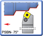 PSBNR\L 75° Toolholders for SNMG Inserts