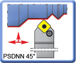 PSDNN 45° Toolholders for SNMG Inserts