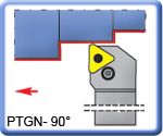 PTGNR\L 90° Toolholders for TNMG Inserts