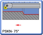 PSKNR\L 75° Boring Bars for SNMG Inserts