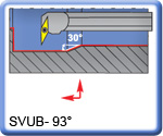 APT 93° SVUBR\L Boring Bars for VBMT Inserts