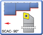 90° SCACR\L Toolholders for CCMT Inserts 150mm long