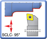 95° SCLCR\L Toolholders for CCMT Inserts 150mm long