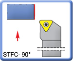APT 90° STFCR\L Lathe Turning Tools for TCMT Inserts