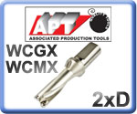 U-Drills 2xD for WCMX Inserts 15-50mm Diameter