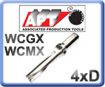 U-Drills 4xD for WCMX Inserts 15-55mm Diameter