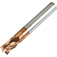 High Strength High Hardness 4 Flute Carbide End Mill 8mm Diameter AlTiNS Coated 65HRC
