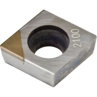 CCMW 060204 CBN2100 CBN Turning Insert for Hardened Steel 45-65 HRC Continuous Cutting
