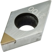 DCMW 11T308 CBN2100 CBN Turning Insert for Hardened Steel 45-65 HRC Continuous Cutting