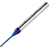 Long Neck Ball Nose End Mill 1.2mm Dia 12mm Neck Length 50mm Long 68HRC