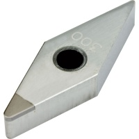 VNMA 160408 CBN300 CBN Turning Insert for Hardened Steel 45-65 HRC Interrupted Cutting